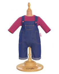 "17"" Denim Overalls Set"