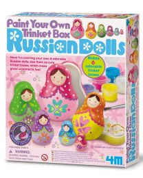 Paint Your Own Trinket Box – Russian Dolls