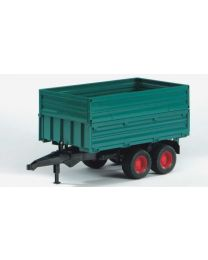 Tandem Axle Tipping Trailer with Removable Top (Green)