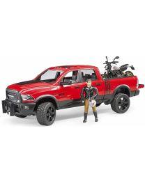RAM 2500 Power Wagon with Scrambler Ducati Desert Sled