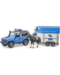 Land Rover Defender Police w/ Horse Trailer and Policeman