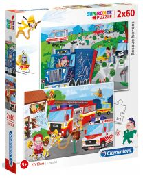 Rescue Heroes, 2 x 60 Piece Puzzles