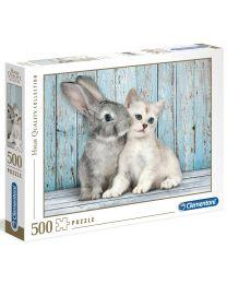 Cat & Bunny, 500 Piece Puzzle