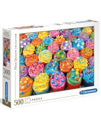 Colorful Cupcakes, 500 Piece Puzzle