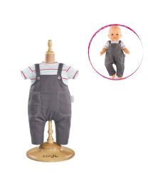 """Smock and Denim Overall for 14"""" Baby Doll"""