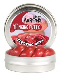 """Electric Ruby 2"""" Thinking Putty"""