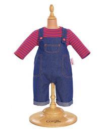 Denim Overalls Setfor a 14-inch baby doll