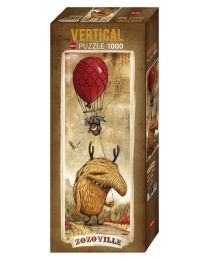 Red Balloon, Zozoville, 1000 Piece Vertical Puzzle