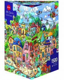 Happytown, Rita Berman, 1500 Piece Puzzle