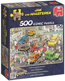 In The Car Respraying Shop, Jan Van Haasteren, 500 Piece Puzzle