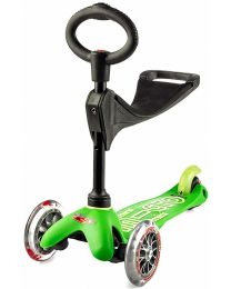 Mini MICRO 3-in-1 Deluxe Kickboard, Green
