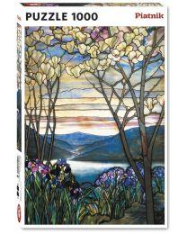 Magnolias and Irises, Louis Comfort Tiffany, 1000 Piece Puzzle