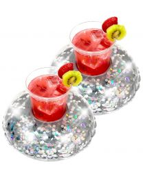 Glitter Drink Float 2 Pack - Silver