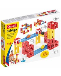 Cuboga, Cubes & Tubes Marble Run, 50 Pieces