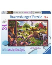 Animals of Bells Farm, 24 Piece Floor Puzzle