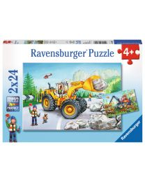 Diggers at Work, 2 x 24 Piece Puzzles