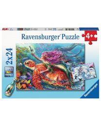 Mermaid Adventures, 2 x 24 Piece Puzzles