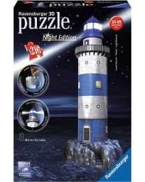 Lighthouse at Night, 216 Piece 3D Puzzle