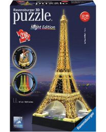 Eiffel Tower by Night, 216 Piece 3D Puzzle