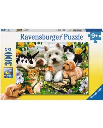 Happy Animal Buddies, 300 XXL Piece Puzzle