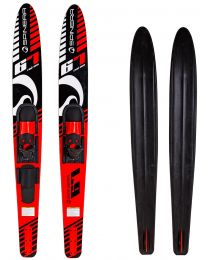 """Adult Combo Skis, 67"""" Red Sea"""
