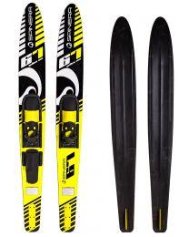 """Adult Combo Skis, 67"""", Yellow Sea"""