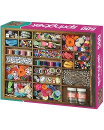 The Sewing Box, 500 Piece Puzzle