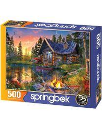 Sun Kissed Cabin, 500 Piece Puzzle