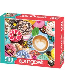 Donuts N' Coffee, 500 Piece Puzzle