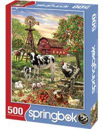 Barnyard Animals, 500 Piece Puzzle