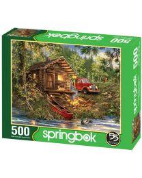 Cozy Cabin Life, 500 Piece Puzzle