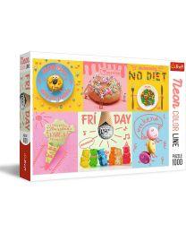 Sweet Week, Neon Color Line, 1000 Piece Puzzle