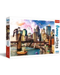 Cats in New York, 1000 Piece Puzzle