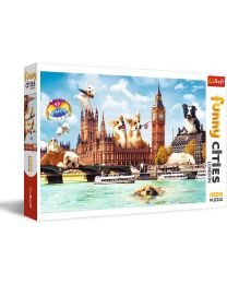 Dogs in London, 1000 Piece Puzzle