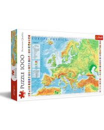 Physical Map of Europe, 1000 Piece Puzzle