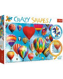 Colourful Balloons, 600 Piece Crazy Shapes Puzzle