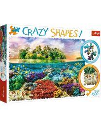 Tropical Island, 600 Piece Crazy Shapes Puzzle
