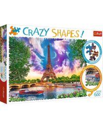 Sky over Paris, 600 Piece Crazy Shapes Puzzle