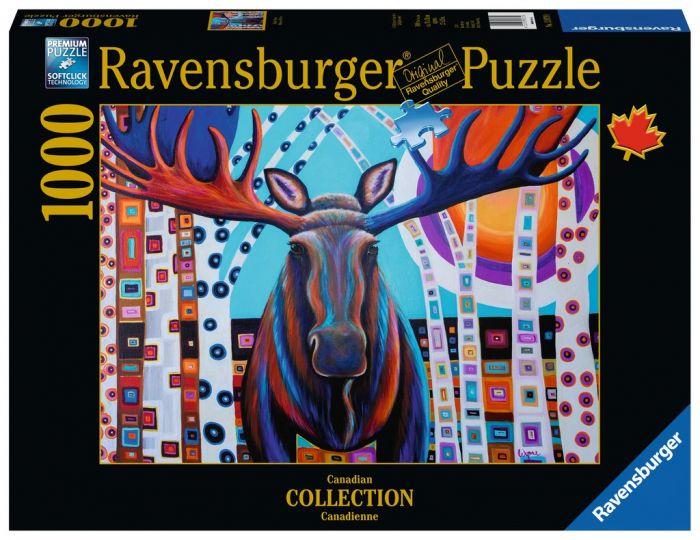 Winter Moose, 1000 Piece Puzzle