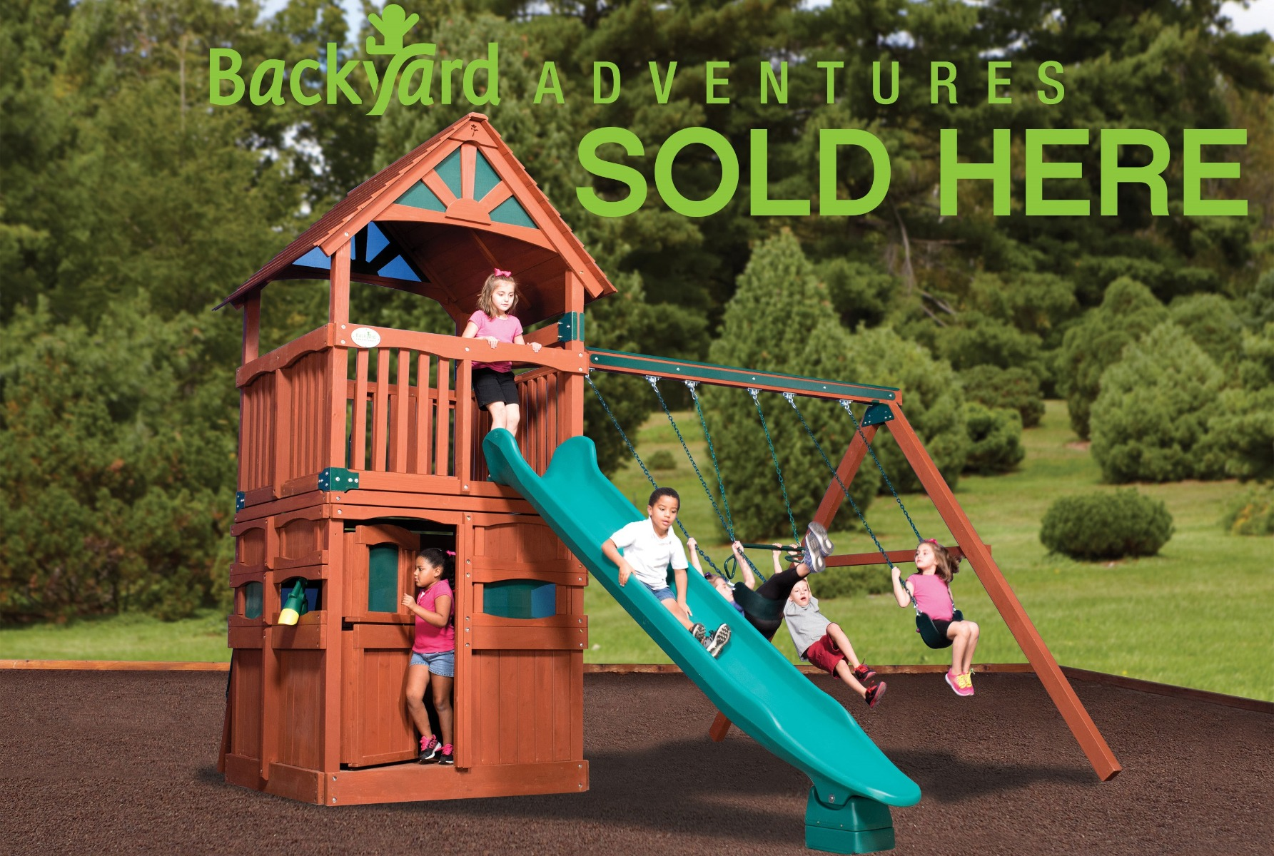 Backyard Adventures Play Structures Sold Here